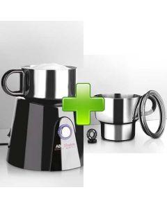 Induktions-Milchaufschäumer mit praktischem Erweiterungsset.